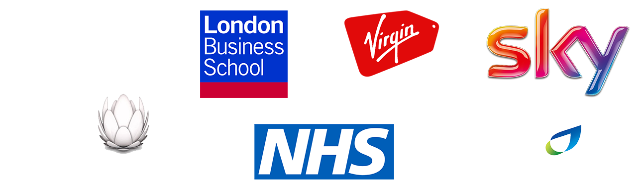 Alex Metcalf clients: London Business School, BBC, Virgin Holidays, Sky, Liberty Global, NHS, British Gas